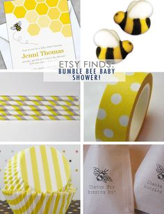 A Fabulous Challenge: Etsy Finds: Bumble Bee Baby Shower