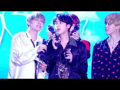 4K 잘놀다가 폭죽에 놀란 방탄소년단 석진 직캠 BTS Jin focus fancam butterfly(엔딩) 171101평창 K-POP - YouTube