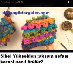 Tek Yumakla Ombre Kazak Yapılışı | Deryagibiörgüler Knitted Hats, Crochet Hats, Crochet Earrings, Knitting, Knitting Hats, Tricot, Breien, Stricken, Weaving