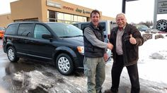 Mr. Stephen Cheesman here to congratulate David on his new car-car! A wonderful choice and I'm sure you will be very happy with your new Grand Caravan! Thanks again for your business and choosing Kingston Dodge!