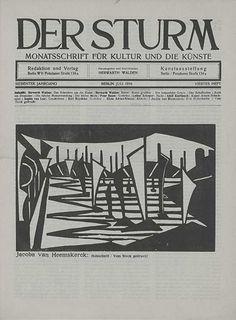 Front cover of Der Sturm, July 1916, Woodcut by Jacoba van Heemskerck