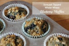 New Nostalgia   Blueberry Streusel Topped Muffins #healthy #muffins