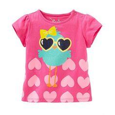 Animal Heart Print Girls T Shirt
