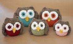 Crochet Owl Family Amigurumi Pattern - Repeat Crafter Me