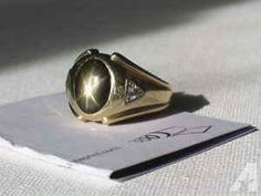 A MANLY 14K GOLD PINKY RING. LARGE STAR SAPHIRE, 2 DIAMONDS(Grunt) - $485 (Southeast Denver/West Aurora)
