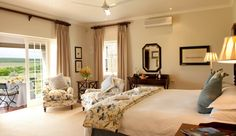 Inside one of eight luxury suites at River Bend Lodge, Addo, South Africa