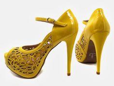 hpfootwear: Sapato Peep Toe Amarelo