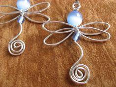 cute dragonfly earrings. Craft ideas from LC.Pandahall.com   #pandahall