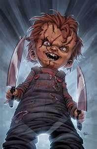 one of my favourite horror movie character. thanks to for give me this art. Art by ? ( I don't know, LOL ) Color by Me ^_^ Done in photoshop CHUCKY Arte Horror, Horror Art, Horror Movie Characters, Horror Movies, Scary Movies, Good Movies, Caricatures, Caricature Art, Chucky Movies