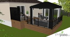 Gazebo Design Ideas For Your Backyard - Home Decor Ideas Gazebo, Backyard Pergola, Pergola Designs, Patio Design, Veranda Design, Porch Kits, Small Space Interior Design, Building A Porch, Modern Pergola