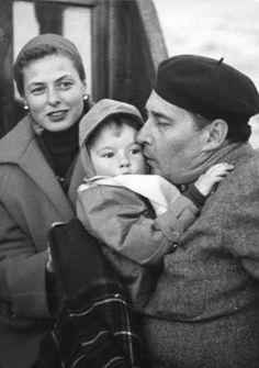 Ingrid Bergman, Robertino and Roberto Rossellini