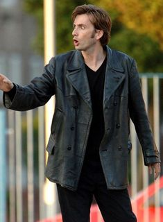 David Tennant Doctor Who Leather Trench Coat