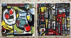 1960's Ceramic Tiles / BERGGREN, Shelton, Trayner / Frances Minnick / Modernist Art Movement