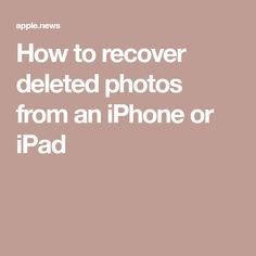 How to recover deleted photos from an iPhone or iPad — Southern Culture - Hacks Iphone Hacks, Cell Phone Hacks, Smartphone Hacks, Recover Photos, Recover Deleted Photos, Ipad Air 2, Iphone Codes, Iphone Information, Iphone Secrets