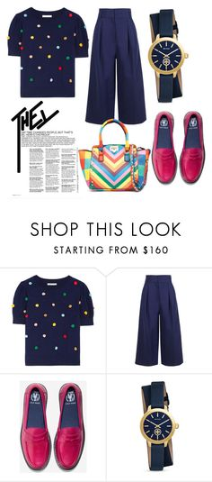 """dots of colors"" by jeonayla on Polyvore featuring Alice + Olivia, TIBI, Cole Haan and Tory Burch"