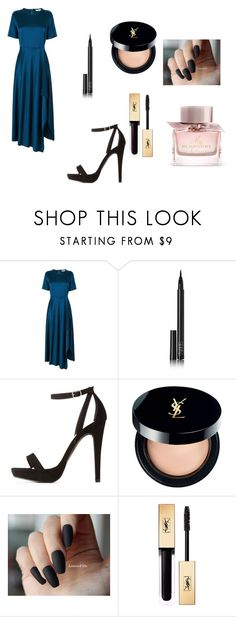 """""""A Velwettish Touch"""" by aakankshagarg on Polyvore featuring NARS Cosmetics, Charlotte Russe, Yves Saint Laurent and Burberry"""