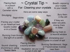 Cleaning your crystals