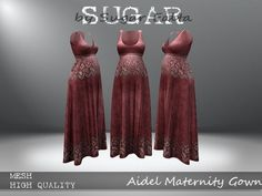 dfb5a592c6f Check out this Second Life Marketplace Item! Maternity GownsSugarFormal ...