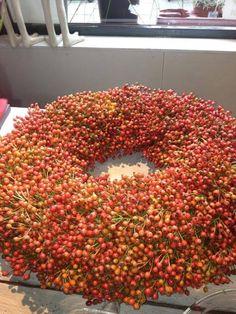Pepperberries on moss Wreath