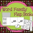 Lift the flap books to teach word families! 2 options included. Students can match pictures or words to the corresponding word family.