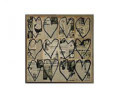 Canvasprint BLACK HEARTS - 70 x 70 cm