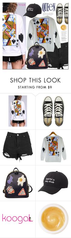 """""""Queen of hearts"""" by mada-malureanu ❤ liked on Polyvore featuring Converse, WithChic, Charlotte Russe, Pommade Divine, koogal and koogallove"""
