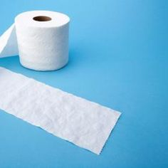 Toilet paper resembles the color and elasticity of baby diapers.