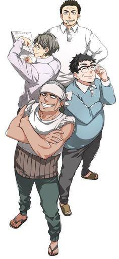 本日深夜、日テレにて放送されるTVアニメ「ばらかもん」は5分繰り下げの26:25スタートです。 第4話は「しまんおんつぁんどん」。島のおっさんたち、という意味です!というわけでヨシノ先生描き下ろしおんつぁんどんをお届け! pic.twitter.com/RR6uatsuZO