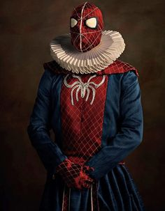 Superheroes in the 'super flemish' series by french artist Sacha Goldberger