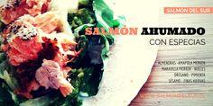 Venta de salmón ahumado en caliente con especias. Salmón del Sur. salmondelsur.cl Salmon, Cabbage, Beef, Vegetables, Food, Smoked Salmon, Spice, Meat, Vegetable Recipes