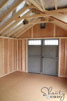 Shed Doors - Vital Factors In Shed Plans - A Closer Look - Overects Building A Storage Shed, Garden Storage Shed, Workshop Shed, Wood Shed Plans, Shed Design Plans, Diy Shed Plans, Shed Floor, Shed Blueprints, Cheap Sheds