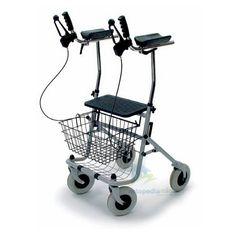 Caminador Polivadente  ARTRIS. Diseñado para aquellas personas con reumatismo o artritis, dispone de soportes de poliuretano blando para los antebrazos, asi como un asiento para poder descansar cuando lo necesites.
