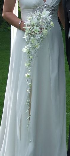 Bride to Be Reading ~ dendrobium white orchids - roses, calla lily ...
