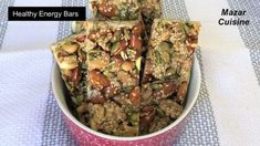 Healthy Energy Bars Recipe, Healthy And Easy Snack , Protein Bar Energy . Healthy Energy Bar Recipes, Healthy Bars, Healthy Protein, Healthy Snacks, Eating Healthy, Snack Recipes, Ramzan Special Recipes, Low Carb Protein Bars, Nutrition