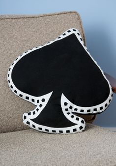 You've Got It Spade Pillow. Compliments are in the cards for you when you sit this darling spade pillow on your couch! #black #modcloth