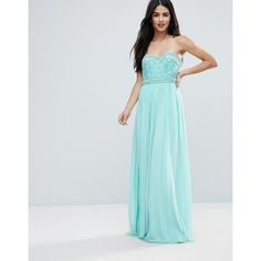 Forever Unique Sweetheart Detail Maxi Dress ($215) ❤ liked on Polyvore featuring dresses, blue, cocktail maxi dresses, embellished cocktail dress, holiday cocktail dresses, evening cocktail dresses and blue prom dresses