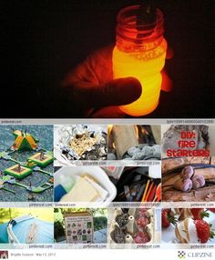 Summer Camping Ideas (bubbles and glow-in-the-dark paint)
