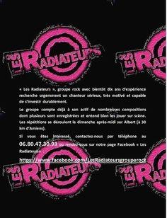Les Radiateurs recherchent un nouveau chanteur !!!