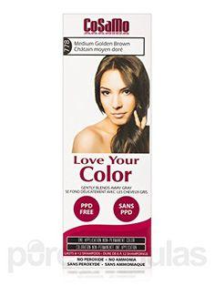 CoSaMo - Love Your Color Non Permanent Hair Color 778 Medium Golden Brown - 3 oz…