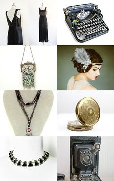 The Roaring Twenties by  Erika Hapke from LaRouxVintage            --Pinned with TreasuryPin.com