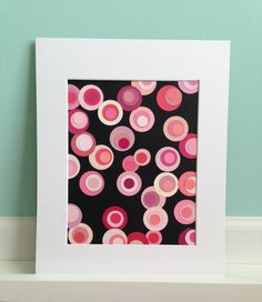 Upcycled Pink Hue Paint Chip Art by ITSBRANNA on Etsy, $12.50