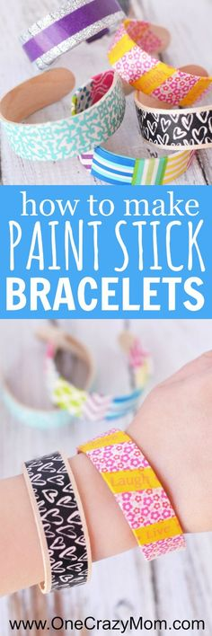 Learn how to make popsicle stick bracelets. These craft sticks bracelets will be a hit with everyone! You will love these bracelets made from popsicle sticks! The kids will have a blast decorating popsicle stick jewelry! Try making popsicle stick crafts! Kids Crafts, Diy Projects For Kids, Crafts For Kids To Make, Crafts For Girls, Easy Diy Crafts, Wood Projects, Popsicle Stick Bracelets, Popsicle Stick Crafts, Popsicle Sticks