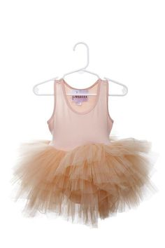 8b549ef0ef Gorgeous peach layered tutu dress features attached bodysuit. Made with  super soft tulle in NYC
