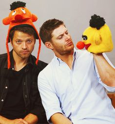 This is why I love my boys!!! Misha and Jensen : )