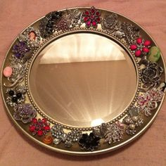 Brooch mirror that I made for my mom.