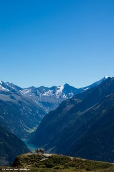 These people enjoy their view from Penkenjoch, Austria.