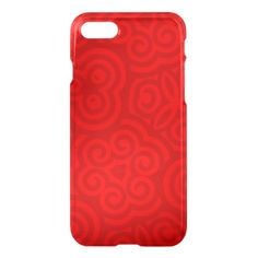 Red Abstract Pattern iPhone 7 Case - tap to personalize and get yours Iphone 7 Cases, Iphone Se, White Ink, Abstract Pattern, Printing Process, Prints, Red, White Tattoos, Printmaking