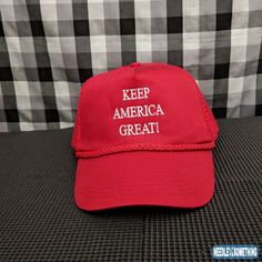 Golf 1 Pcs Keep America Great Donald Trump Slogan With Usa Flag Cap Adjustable Baseball Hat Red Rapid Heat Dissipation