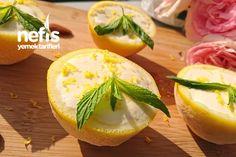 Limonlu Parfe (Limon Kabuğu ve Kupta Sunum)
