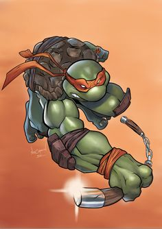 Digital Painting/Illustration - Creating Mikey TMNT by Nick Symeou, via Behance